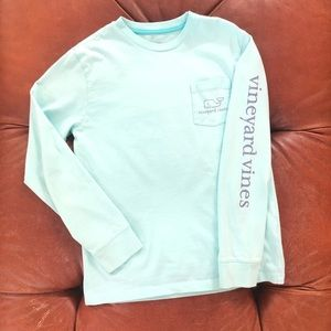 Vineyard Vines Whale Pocket Long Sleeve TShirt S